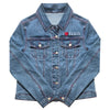 I Heart Elvis Profile Women's Denim Jacket front