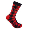 Elvis Presley Red Silhouette Buffalo Plaid Sock