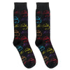 Elvis Presley Repeat Pop Color Signature Socks