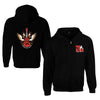 Elvis The King Wing Guitar Zip Hoodie
