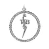 Lowell Hays Sterling Silver Plated TCB Circle Charm