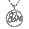 Lowell Hays Sterling Silver Plated Elvis Circle Necklace