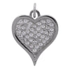Lowell Hays Sterling Silver Plated Heart Pave Charm