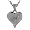 Lowelll Hays Sterling Silver Plated Pave Heart Necklace