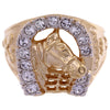 Lowell Hays Gold Plated Horseshoe Ring