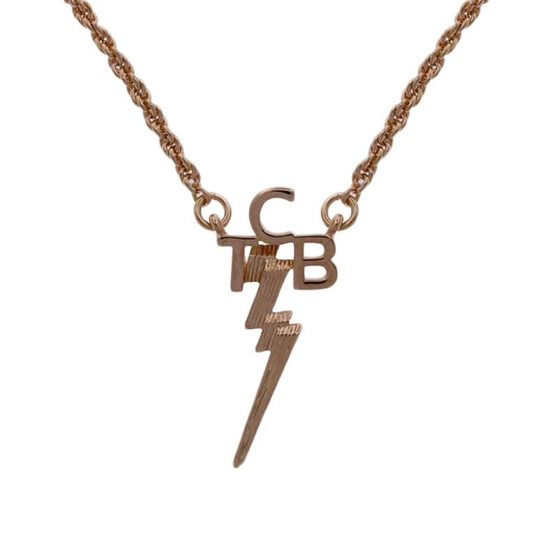 Lowell hays gold plated tcb necklace graceland official store lowell hays gold plated tcb necklace mozeypictures Image collections