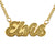 Gold Plated Elvis Script Necklace