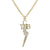 Direct From Graceland Gold Plated Rhinestone TCB Necklace