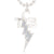 Bixler Sterling Silver Diamond Bolt TCB Necklace