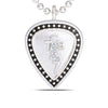 Bixler Sterling Silver TCB Pick Necklace