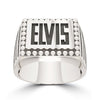 Bixler Sterling Silver ELVIS Name Ring