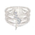 Bixler Sterling Silver Three Tiered Diamond Bolt Ring