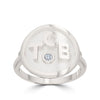 Bixler Sterling Silver Round TCB Diamond Accent Ring