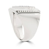Bixler Sterling Silver Diamond TCB Marquee Bolt Ring