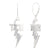 Bixler Sterling Silver TCB Diamond Bolt Dangle Earrings