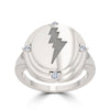 Bixler Sterling Silver Elvis Jukebox Bolt Ring