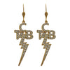 Lowell Hays Gold Plated Crystal TCB Earrings