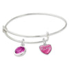 Heart Elvis Silvertone Adjustable Charm Bracelet