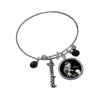 Elvis Presley Black Leather Expandable Charm Bracelet