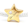 Gold Plated Elvis Signature Star Bead Charm