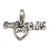Sterling Silver I Heart Elvis Dangle Charm