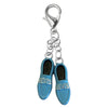 Silver Plated Blue Suede Shoes Charm