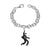 Sterling Silver Plated Jailhouse Rock Charm Bracelet
