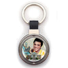Elvis Graceland Guitar Watercolor Key Ring