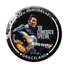 68 Special 50th Anniversary Black Leather Round Magnet