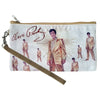 Elvis Repeat Gold Lame Wristlet