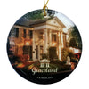 Graceland Round Glass Ornament