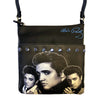 Elvis Black and White Collage Crossbody Handbag