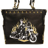 Elvis Motorcycle Flames Tote Bag