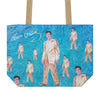 Elvis Repeat Gold Lame Tote Bag