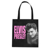 Elvis Presley Pink Looking Down Tote Bag