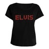 ELVIS Marbled Foil Embellished Women's T-Shirt