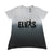 Elvis Ombre Trapeze Women's V-Neck T-Shirt