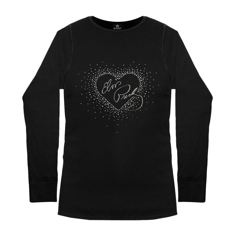 1cf35e94 Crystalli Heart Elvis Presley Long Sleeve Women's Thermal T-Shirt ...