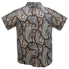 Authentic Elvis Brown Paisley Woven Shirt
