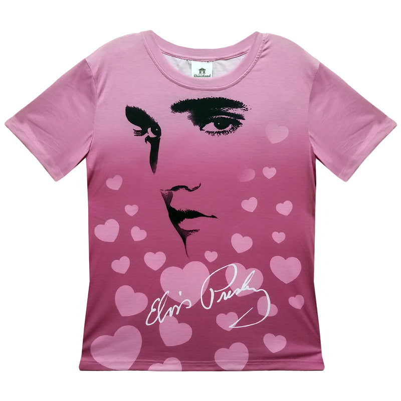Elvis Presley Hearts Profile Women S Sublimated T Shirt