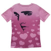 Elvis Presley Hearts Profile Women's Sublimated T-Shirt