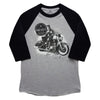 Presley Motors Elvis On Motorcycle Men's Raglan