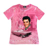 Elvis Presley Pink Classic Car Sublimated Women's T-Shirt Front