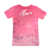 Elvis Presley Pink Classic Car Sublimated Women's T-Shirt Back