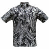 Authentic Elvis Black White Paisley Woven Shirt
