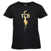 TCB Foil and Rhinestone Embellished Women's T-Shirt