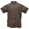 Authentic Elvis Black And Tan Geometric Woven Shirt
