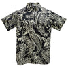 Authentic Elvis Black And White Paisley Woven Shirt