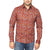 Elvis Presley Long Sleeve Burnt Orange Printed Casino Shirt