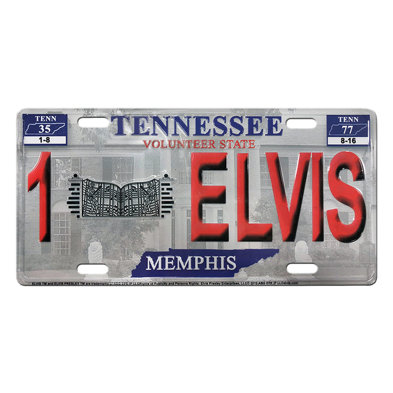 Number 1 Elvis Tennessee License Plate - Graceland Official Store